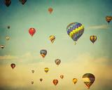 Dusk Balloons Giclee Print by Irene Suchocki