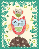 Folksy Friends I Giclee Print by Clara Wells