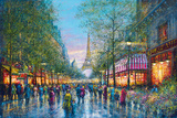 La Tour Eiffel Giclee Print by Guy Dessapt