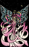 Angel Flocked Blacklight Poster Print Posters