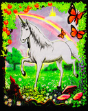 Unicorn - Opticz Cloth Fabric Poster                 Prints