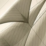 Head Sails of a Schooner Gicléetryck av Michael Kahn
