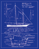 Yacht Design Giclee Print by  The Vintage Collection