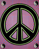 Peace Sign - Opticz Cloth Fabric Poster                 Posters