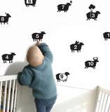 1...10 Sheep Autocollant mural