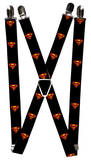 Superman - Shield Black Suspenders Novelty