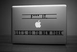 Let's Go To New York Laptop Sticker Laptop Stickers by Antoine Tesquier Tedeschi