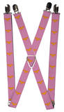 Wonder Woman Logo Pink Suspenders Novelty