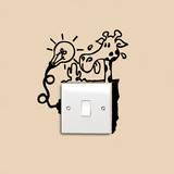 Antoine Tesquier Tedeschi - Thirsty Giraffe Kid Reminder - Duvar Çıkartması