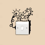 Promemoria giraffa assetata (sticker murale) Decalcomania da muro di Antoine Tesquier Tedeschi