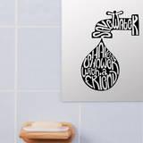 Shower With Friend Wandtattoo von Antoine Tesquier Tedeschi