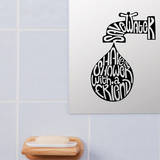 Shower With Friend Wall Decal by Antoine Tesquier Tedeschi