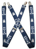 Doctor Who - Keep Calm I'm the Doctor 2 Suspenders Novelty