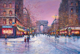 Arc de Triomphe Giclee Print by Guy Dessapt