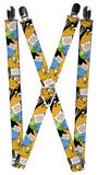 Adventure Time - Jake & Finn Poses Stacked Suspenders Novelty