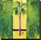 Neon Palm III Stretched Canvas Print by Elizabeth Jardine