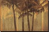 Sunset Palms III Stretched Canvas Print by  Amori