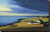 Passing Storm, Prince Edward Island Stretched Canvas Print by Sandy Wadlington