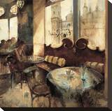 El Real Cafe Stretched Canvas Print by Noemi Martin