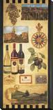 País de vino I Reproducción en lienzo de la lámina por Elizabeth Jardine