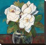 Crystal Magnolias Stretched Canvas Print by Tunick Connie