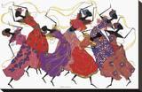 Bailarina principal en túnica morada Reproducción en lienzo de la lámina por Augusta Asberry