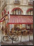 Cafe de Paris II Stretched Canvas Print by Noemi Martin