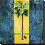 Neon Palm I Stretched Canvas Print by Elizabeth Jardine