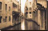 Venice Canal Stretched Canvas Print by Cook Jamie