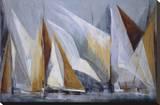 Ocean Regatta Stretched Canvas Print by María Antonia Torres