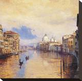 The Grand Canal Stretched Canvas Print by Curt Walters