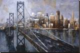 The Bay Bridge Stretched Canvas Print by Marti Bofarull