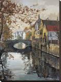 Reflets de Bruges Reproduction sur toile tendue par Robert Schaar