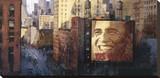 Obama: Moving Forward Stretched Canvas Print by Marti Bofarull