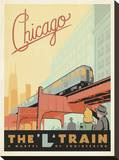 Chicago: The 'L' Train Reproduction sur toile tendue par  Anderson Design Group