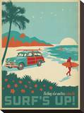 Nothing Else Matters When The Surf's Up! Stretched Canvas Print by  Anderson Design Group