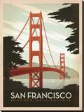 San Francisco: Golden Gate Bridge Impressão em tela esticada por  Anderson Design Group
