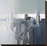 Chrysler and Empire State Buildings Stretched Canvas Print by Joan Farré