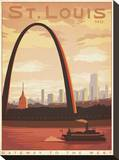 St. Louis, Missouri: Gateway To The West Impressão em tela esticada por  Anderson Design Group
