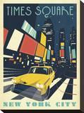 Times Square: New York City Reproduction transférée sur toile par  Anderson Design Group