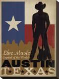 Austin, Texas: Live Music Capital Of The World Impressão em tela esticada por  Anderson Design Group