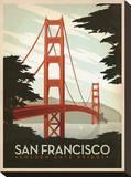 San Francisco, puente Golden Gate Reproducción en lienzo de la lámina por  Anderson Design Group