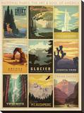 National Parks: The Art & Soul Of America Stretched Canvas Print by  Anderson Design Group