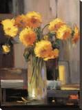 Floral Sunrise Reproduction transférée sur toile par Jennie Tomao-Bragg