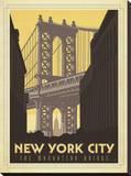 New York City: The Manhattan Bridge Impressão em tela esticada por  Anderson Design Group