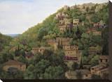 Vista de Deia Stretched Canvas Print by Montserrat Masdeu