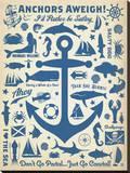 Anchors Away! Impressão em tela esticada por  Anderson Design Group