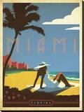 Miami, Florida キャンバスプリント :  Anderson Design Group