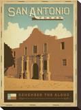 San Antonio, Texas: Remember The Alamo Impressão em tela esticada por  Anderson Design Group