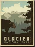 Parque Nacional das Geleiras Impressão em tela esticada por  Anderson Design Group